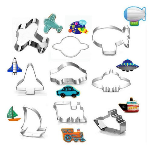 9pcs Cookie Cutters in Different Modes of Transportation