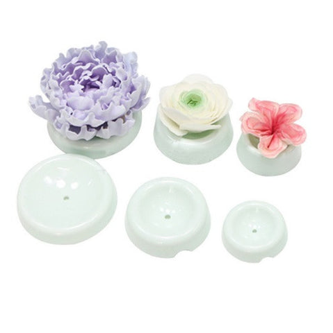 6Pcs Plastic Cake Flower Drying Mold