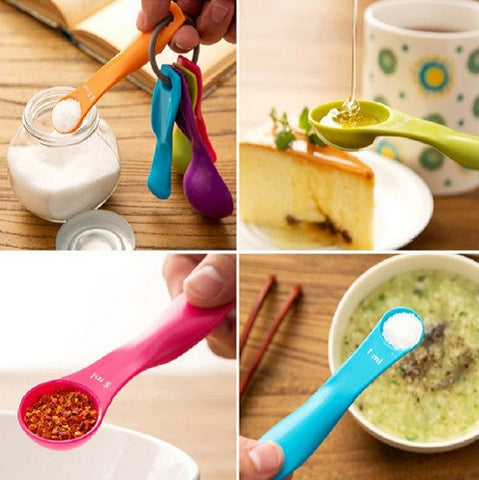 Colorful Plastic Measuring Spoons