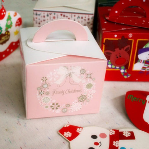 Pink Christmas Cheese Cake Box