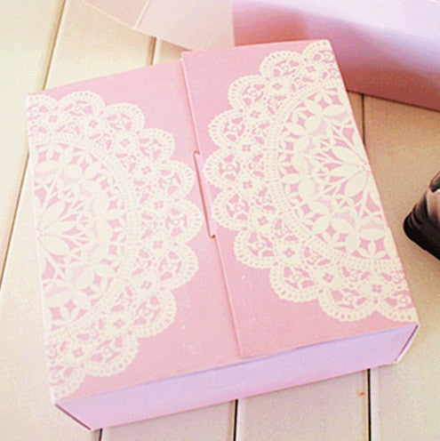 Pink Lace Bakery Paper Box