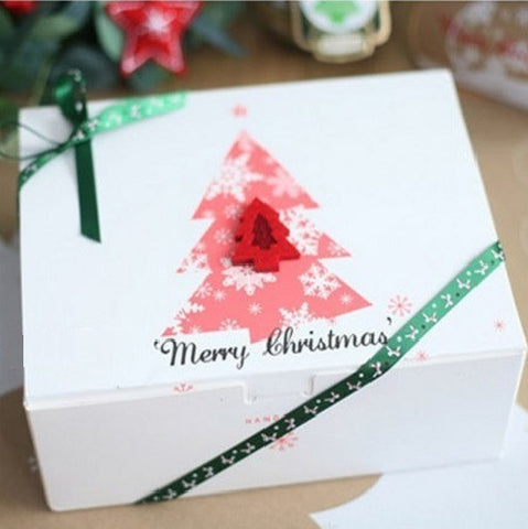 Christmas Tree Paper Cake Box
