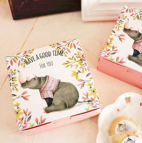 Elephant Design Cake Packaging Box
