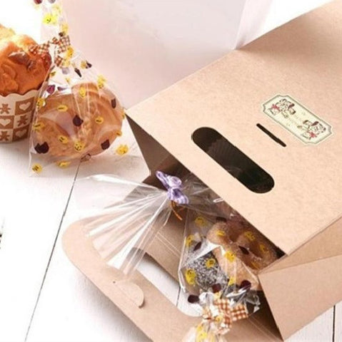 Kraft Paper Gift Bag with Handle