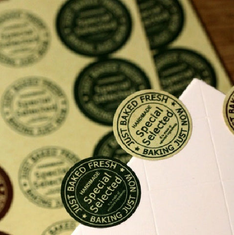 """Special Selected"" Round Adhesive Sticker Labels"