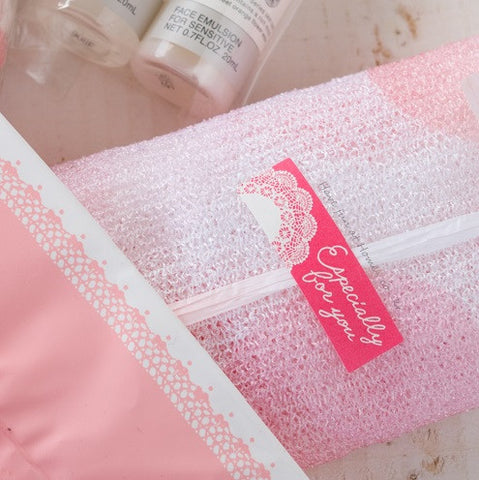 """Especially for You"" Pink Lace Adhesive Sticker Labels"