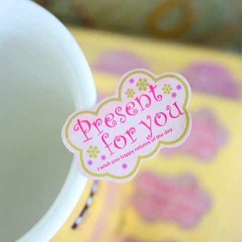 """Present for You"" Adhesive Sticker Labels"