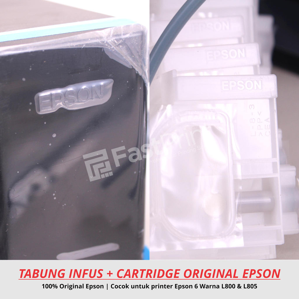 Tabung Infus Original Plus Cartridge Original Epson L800, L805