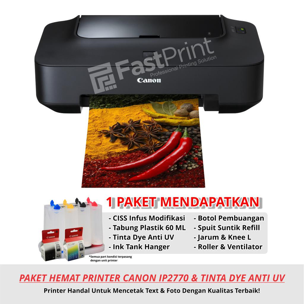 Paket Printer Modifikasi Canon IP2770