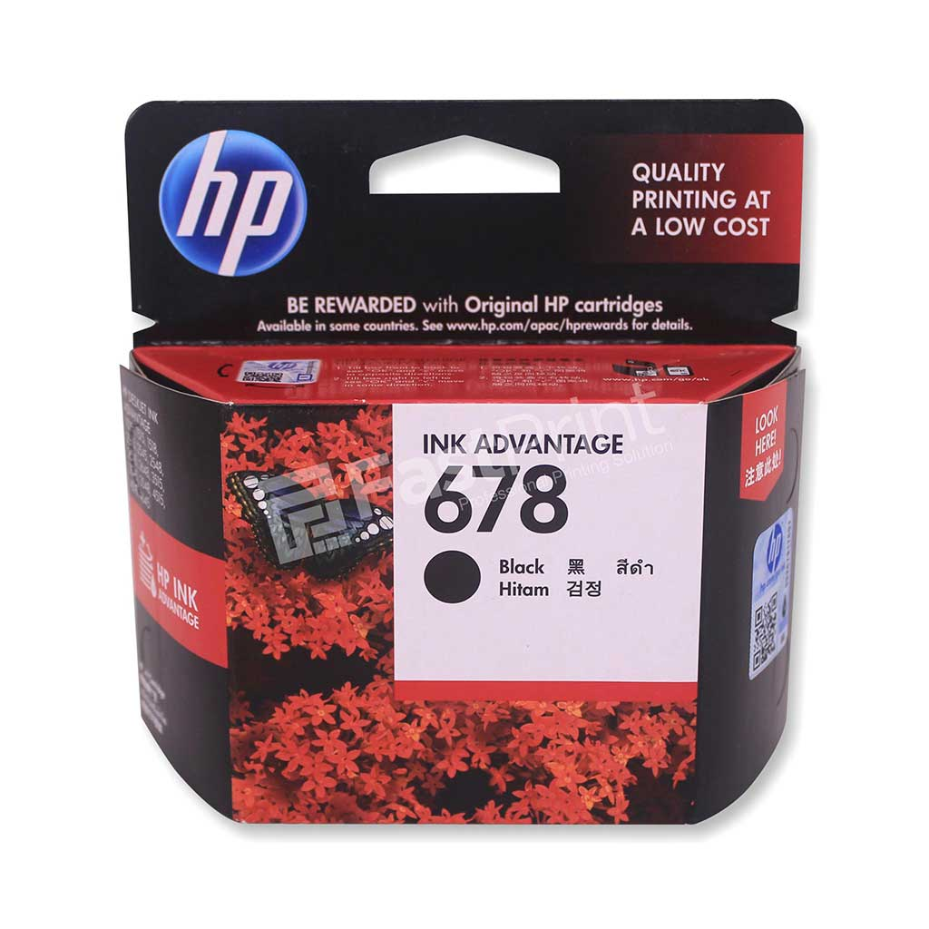 Cartridge Original HP 678 / HP678 Black Printer HP Deskjet 1515, 2515, 2545