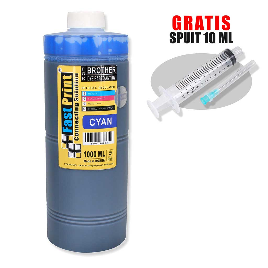 Tinta Dye Based Anti UV Brother 1000 ML