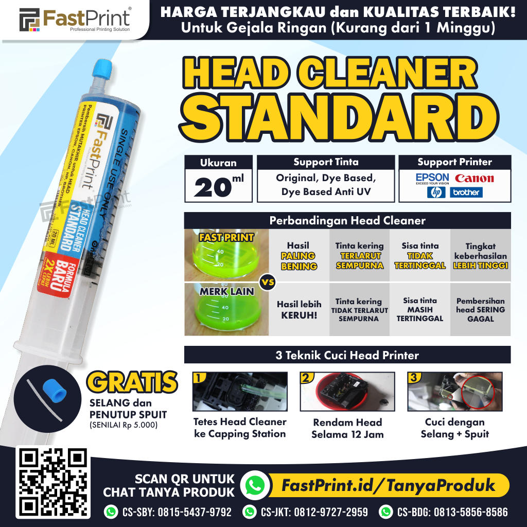 Head Cleaner Standard Fast Print