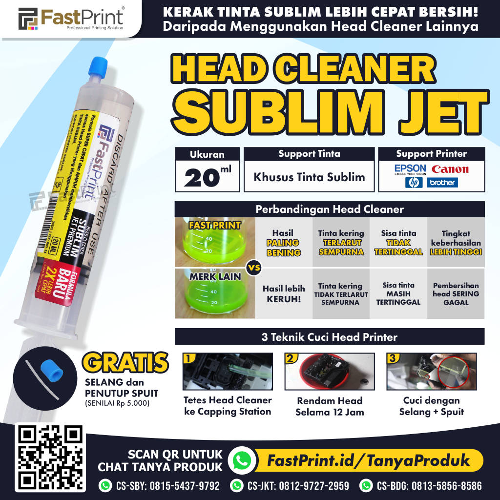 Head Cleaner Sublim Jet Premium Fast Print