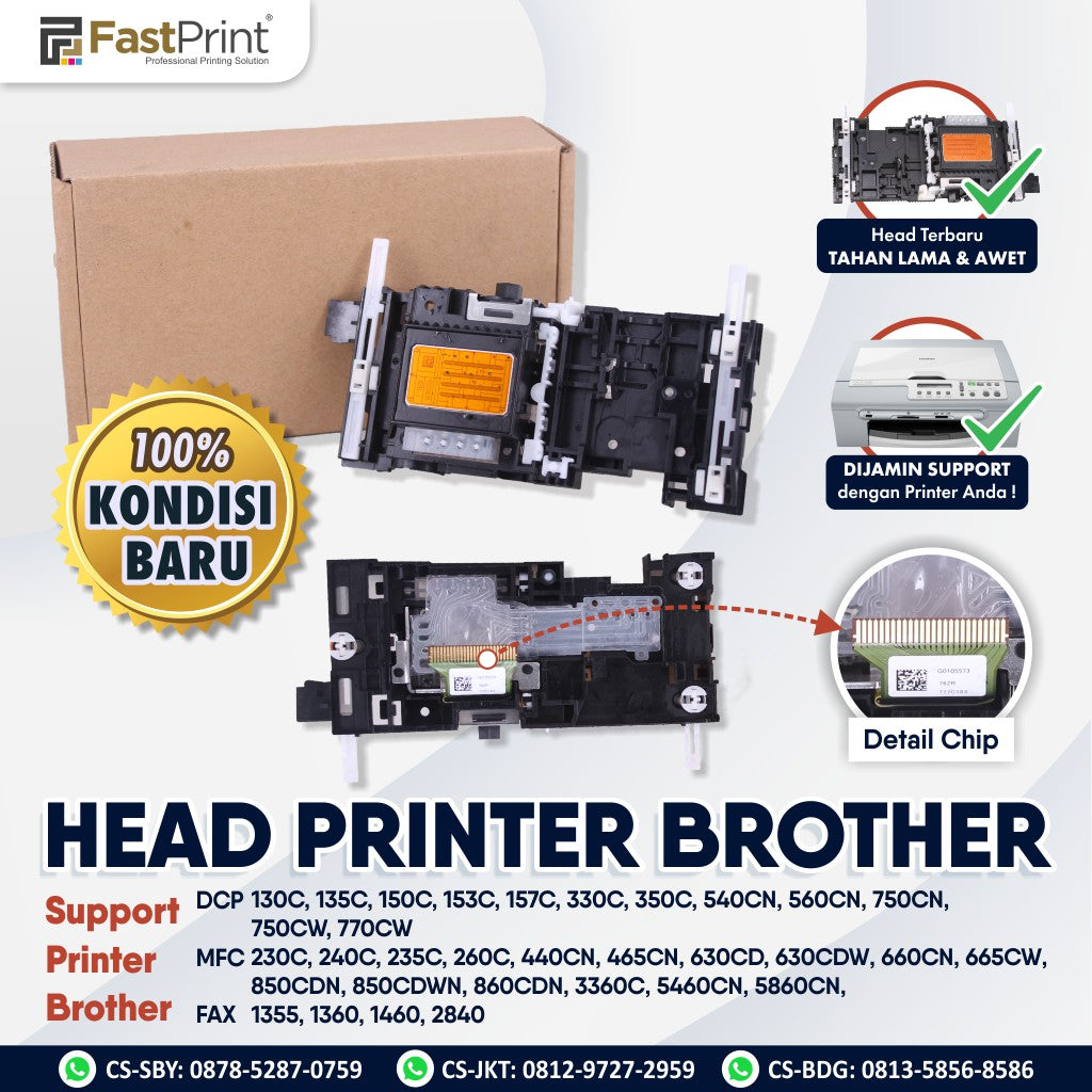 Print Head Printer Brother DCP 130C 135C 150C 153C 157C 330C 350C DCP 540CN 560CN 750CN 750CW 770CW