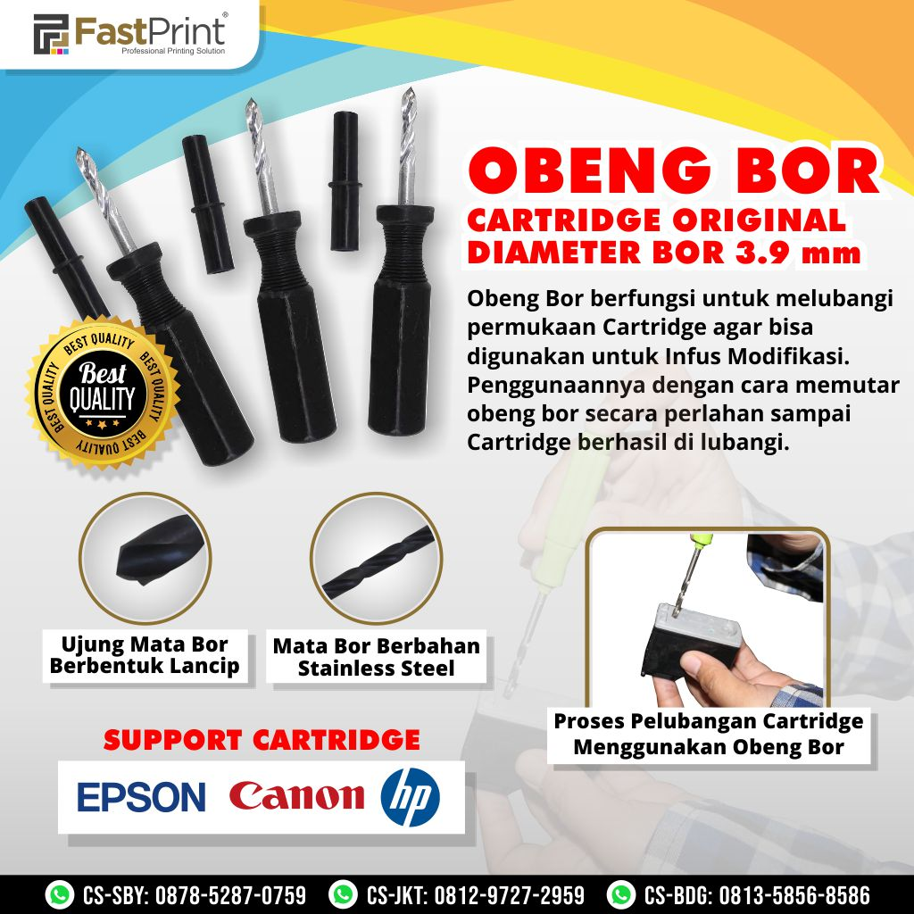 Obeng Bor Cartridge Premium 3.9 MM
