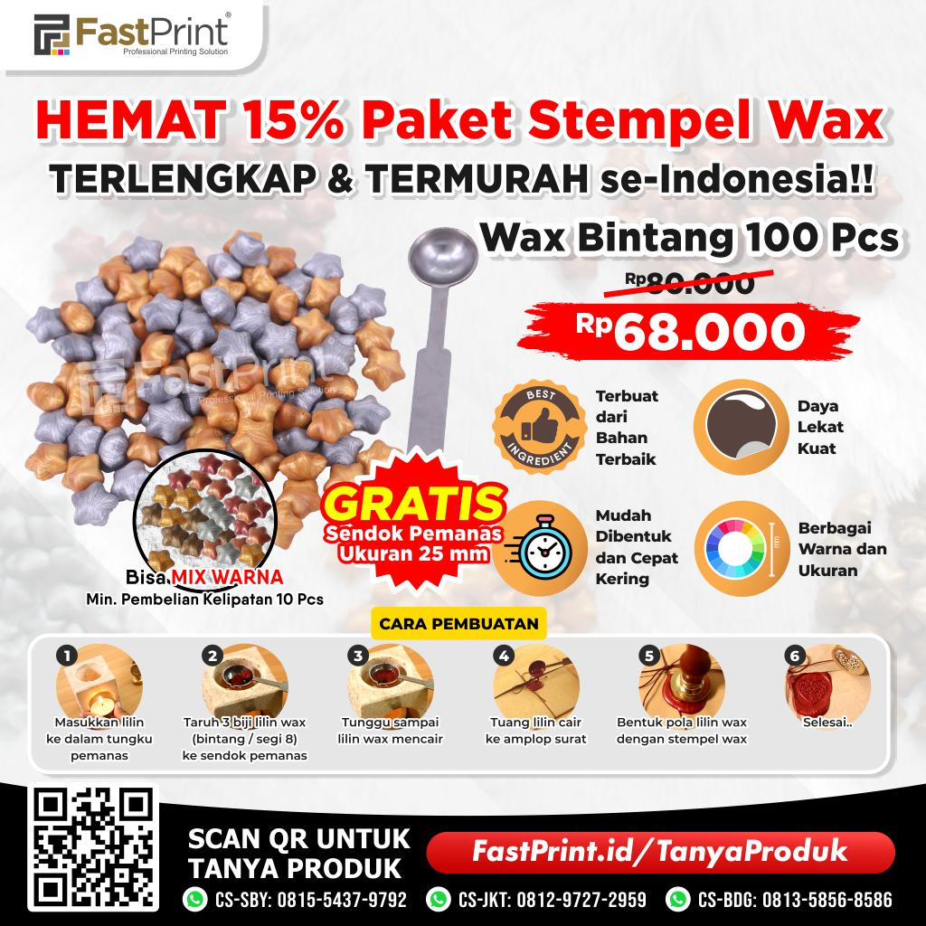 Paket Lilin Stempel Bintang Segel Sealing Wax Stamp Seal