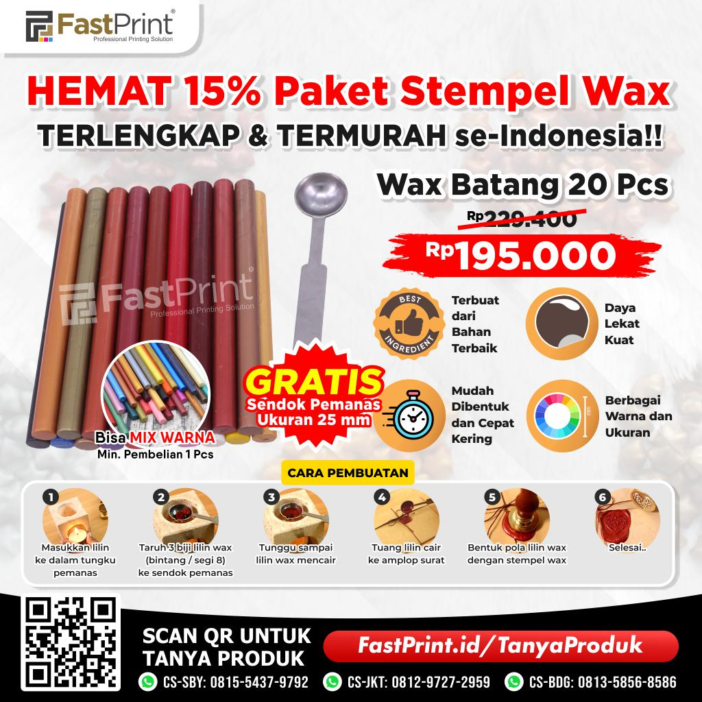 Paket Lilin Stempel Batang Segel Sealing Wax Stamp Seal