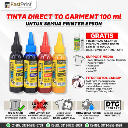 Tinta Textile Printer DTG 1 Set 4 Warna
