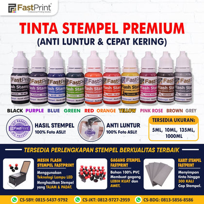 Fast Print Tinta Stempel Flash 10 ML