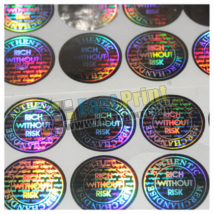 Custom Stiker Segel Hologram 2D Import Label Garansi Produk