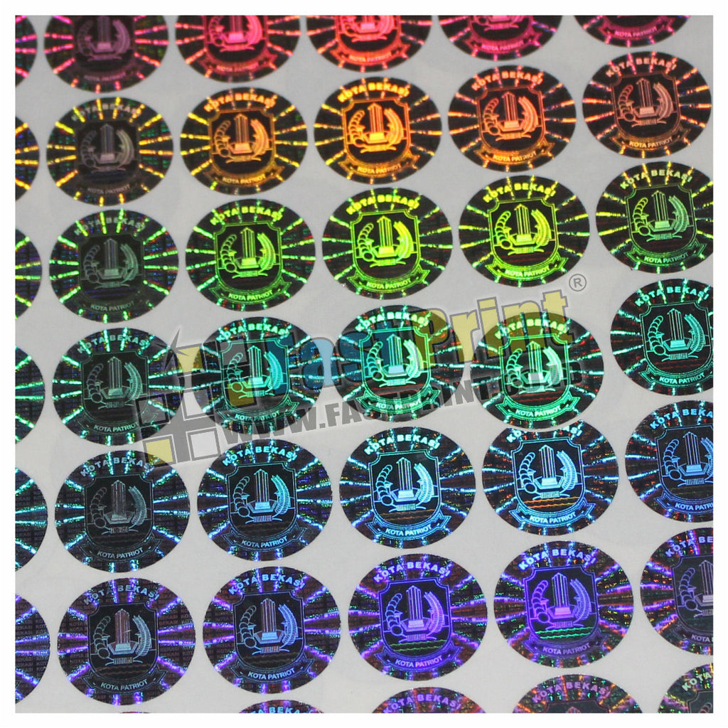 Custom Stiker Segel Hologram 3D Import Label Garansi Produk