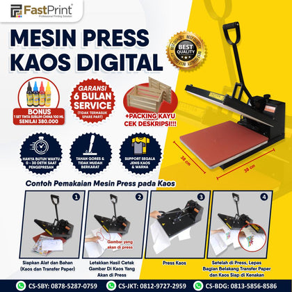 Mesin Press Kaos Digital Import 38 x 38 CM