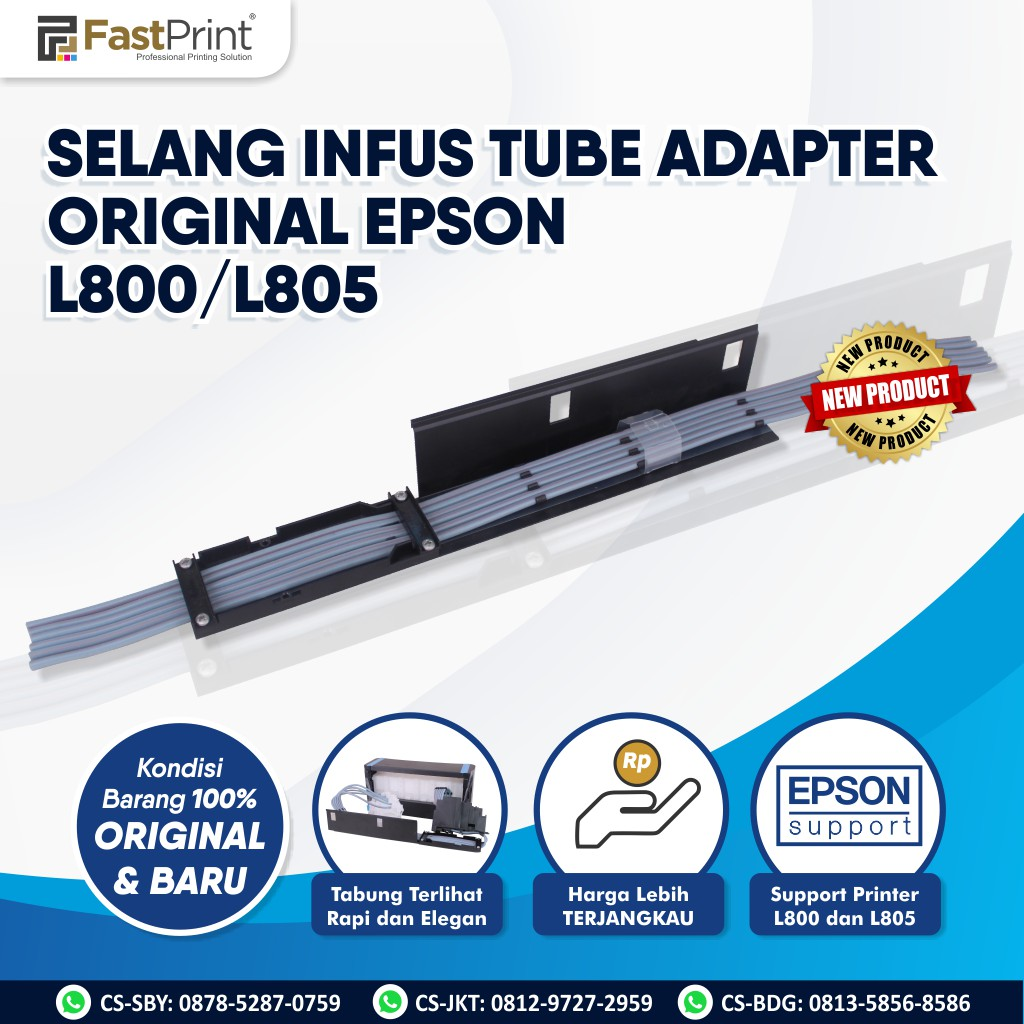 Selang Infus Printer Epson L800, L805 Tube Adapter Original