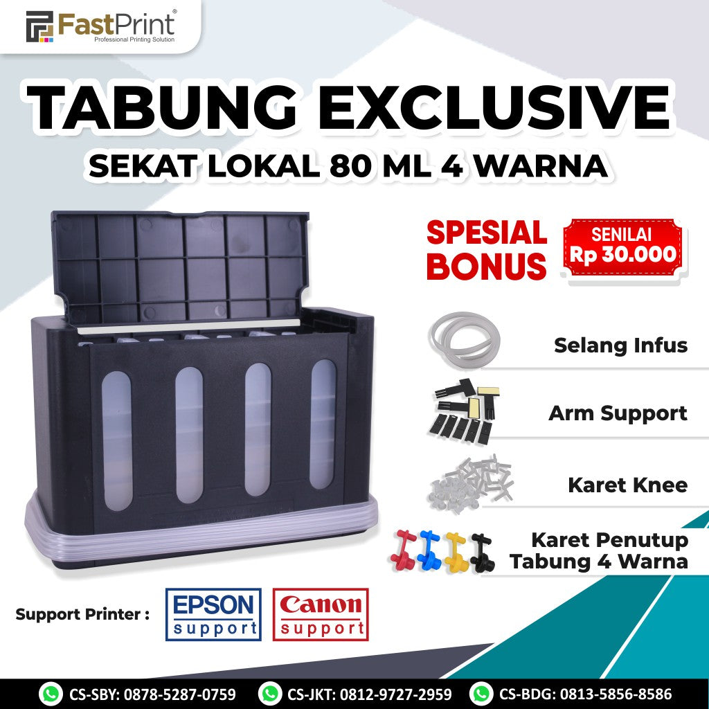 Tabung (Ink Tank) Model Exclusive Sekat 80 ML