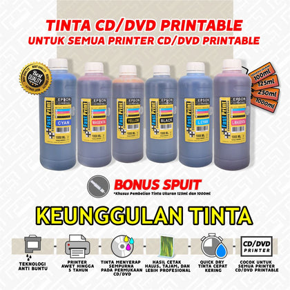 picture regarding How to Print on Printable Cd identified as Tinta CD DVD Printable EPSON Instant Print Indonesia