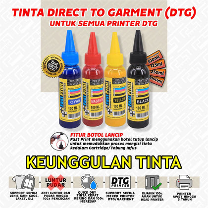 Tinta Textile Printer DTG 100 ML