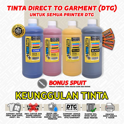 Tinta Textile Printer DTG 1000 ML