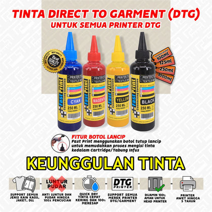 Tinta Textile Printer DTG 250 ML