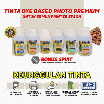 Tinta Dye Based Photo Premium Epson 125 ML