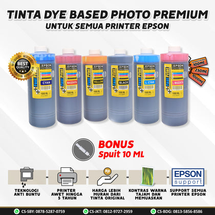 Tinta Dye Based Photo Premium Epson 1000 ML 1000ML