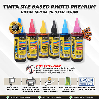 Tinta Dye Based Photo Premium Epson 100 ML 100ML
