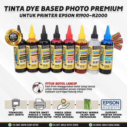Tinta Dye Based Photo Premium Epson R1900 R2000 250 ML 250ML