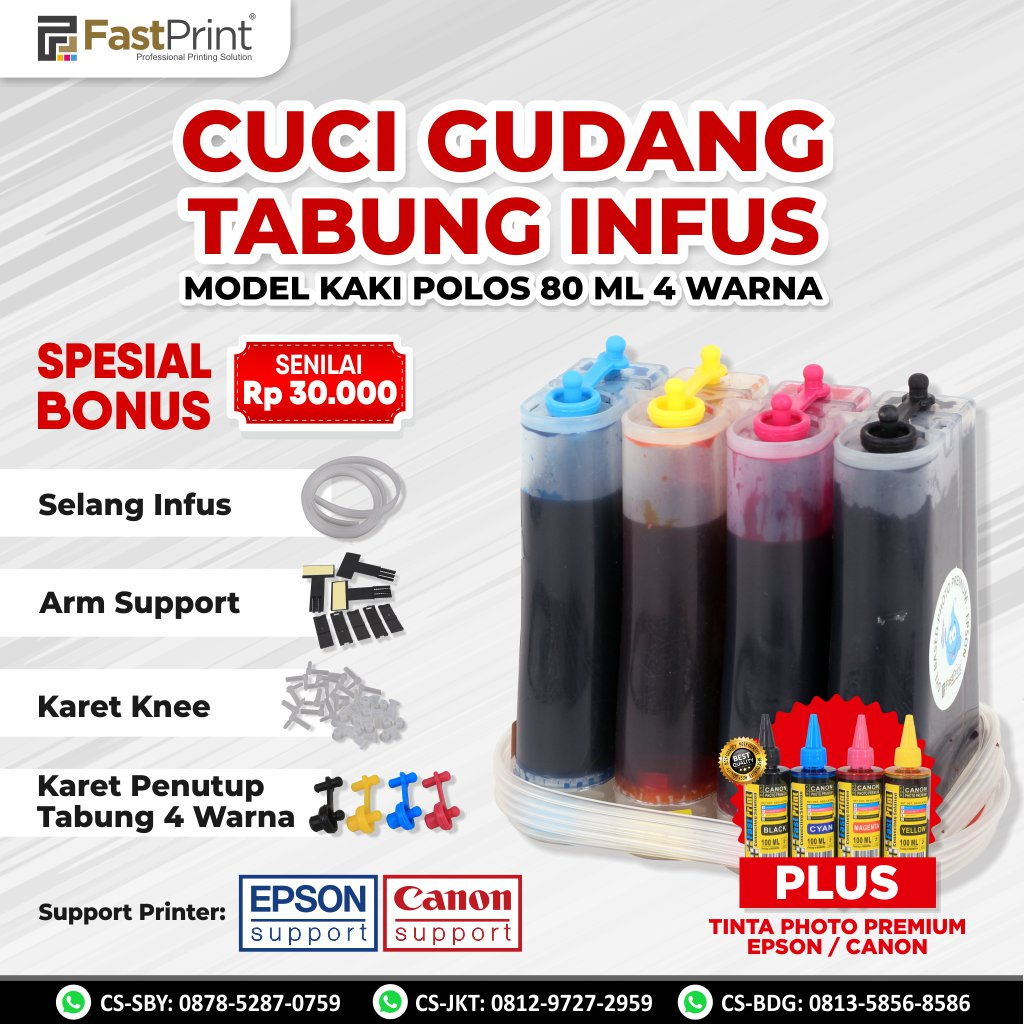 Tabung (Ink Tank) Model Plastik 80 ML