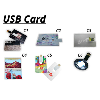 Flashdisk Model Card / Kartu Custom Desain Logo Text