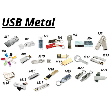 Flashdisk Model Metal Printing Custom Desain Produk Logo Text