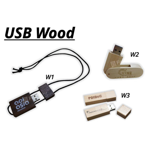 Flashdisk Model Kayu / Wood Custom Desain Produk Logo Text