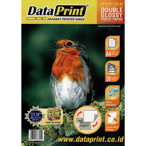 Kertas Double Side Glossy Photo Paper Data Print A4 220 Gram