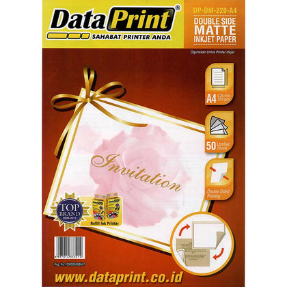 Kertas Double Side Matte Inkjet Paper Data Print A4 220 Gram