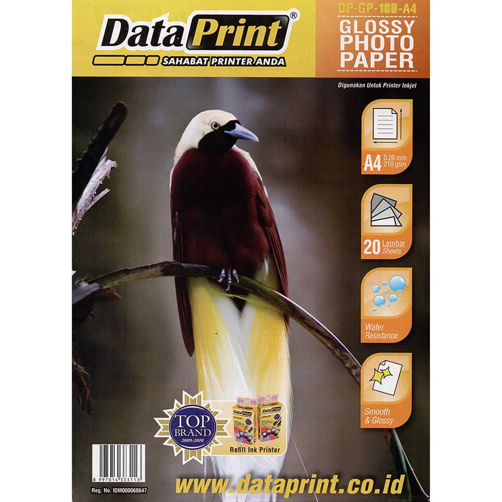 Kertas Glossy Photo Paper Data Print Ukuran A4