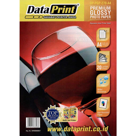 Kertas Premium Glossy Photo Paper Data Print A4 270 Gram