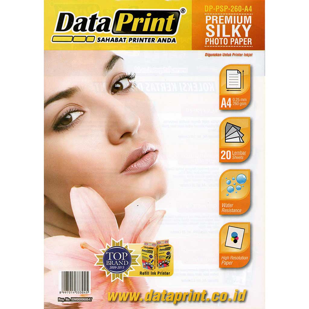Kertas Premium Silky Photo Paper Data Print A4 260 Gram