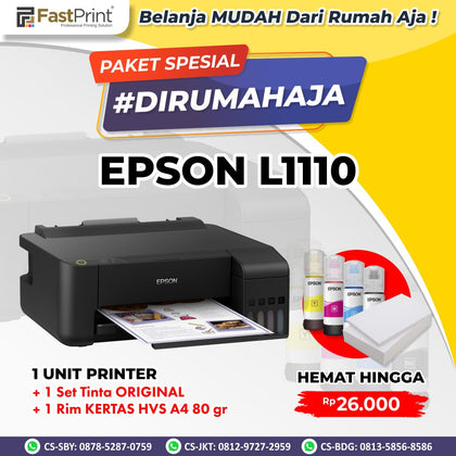 Printer Eco Tank Epson L1110 Inkjet Printer