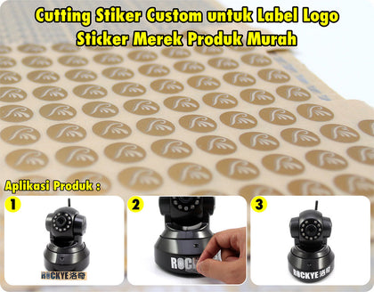 Custom Cutting Stiker Import Label Logo Desain