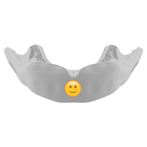 Gameday Mouthguard Emoji Edition design, front on picture.