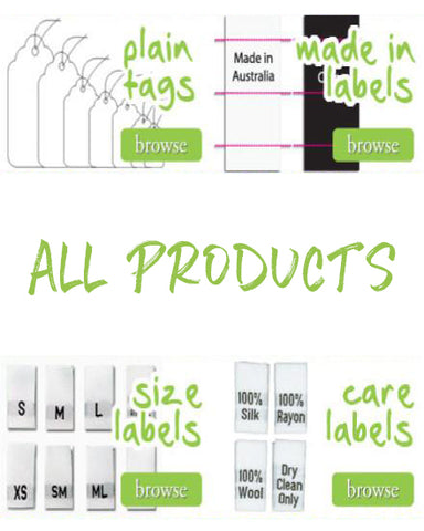 HANG TAG ACCESSORIES EXTRAS ALL PRODUCTS