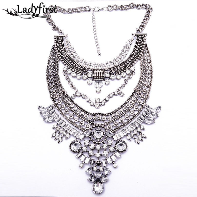 Vintage Metal Bead Alloy Pendant Collar Necklace & Choker Necklace - Order Today!